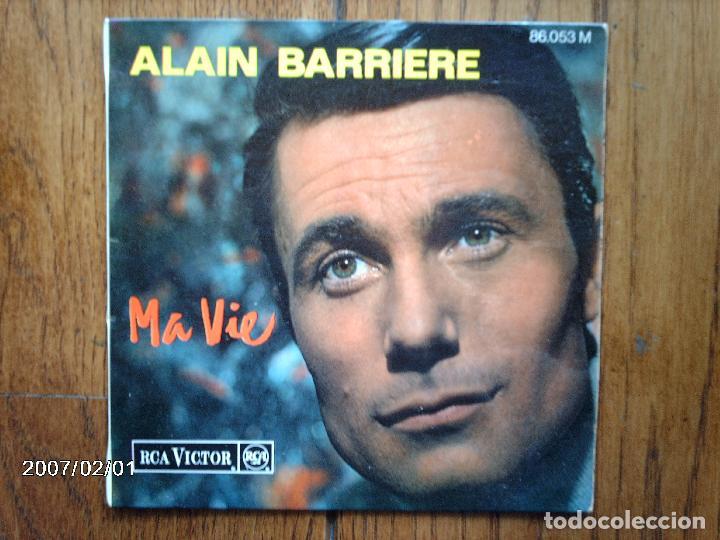 ALAIN BARRIERE - MA VIE + 2 (Música - Discos de Vinilo - EPs - Canción Francesa e Italiana)