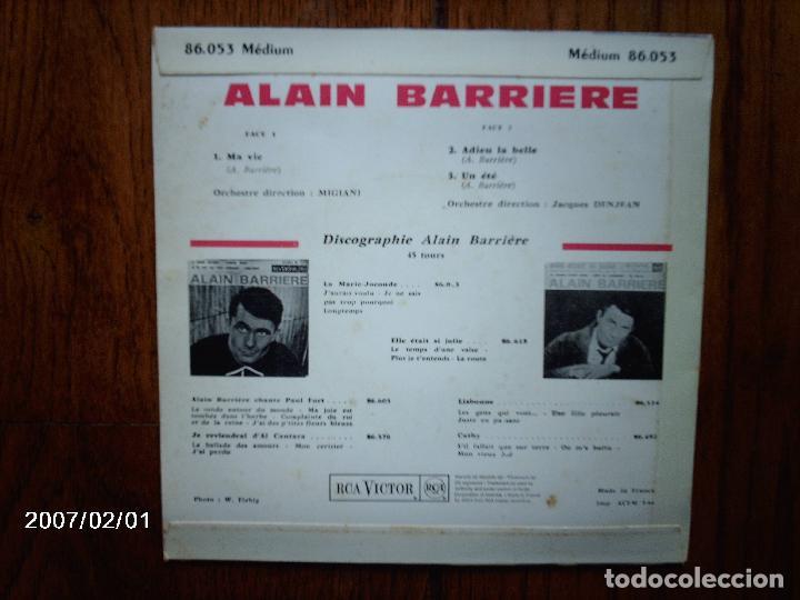 Discos de vinilo: alain barriere - ma vie + 2 - Foto 2 - 64058615