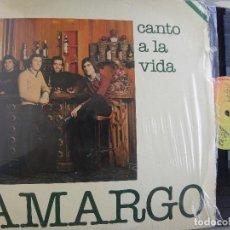 Discos de vinilo: AMARGO -CANTO A LA VIDA -LP 1980. Lote 64073971