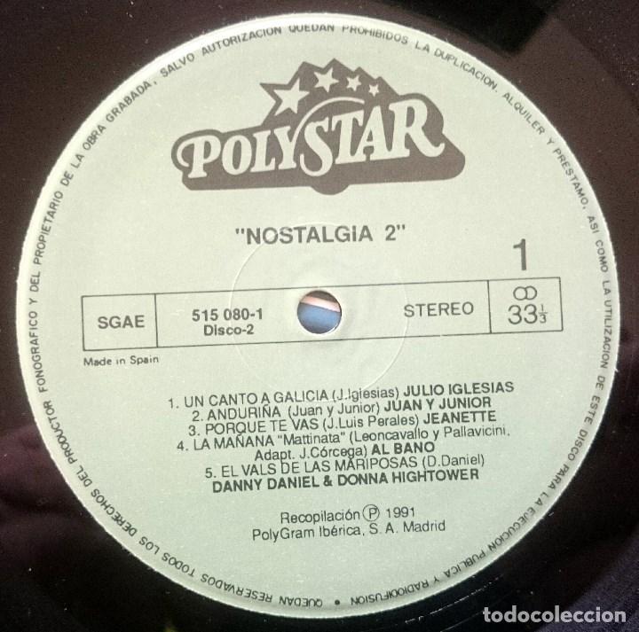 Discos de vinilo: VVAA: Nostalgia 2, 2xLp Comp Polystar 515 078-1, Spain, 1991. VG+/VG+. Dyango, Jeanette, Mocedades, - Foto 2 - 64081095
