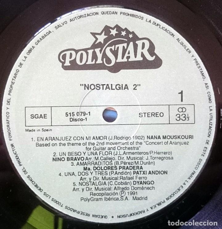 Discos de vinilo: VVAA: Nostalgia 2, 2xLp Comp Polystar 515 078-1, Spain, 1991. VG+/VG+. Dyango, Jeanette, Mocedades, - Foto 4 - 64081095