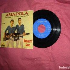 Discos de vinilo: KRONER'S DUO (TONY RONALD) - AMAPOLA - EP SPAIN 1961 VER FOTO.. Lote 64107963