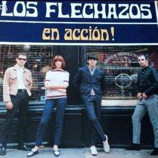 Discos de vinilo: LOS FLECHAZOS EN ACCION LP 1991DRO CON INSERTO. Lote 64108107