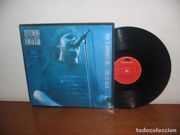 ZUCCHERO SUGAR FORNACIARI MAXI 45 RPM MEGA RARO VINTAGE ESPAÑA 1988 (Música - Discos de Vinilo - Maxi Singles - Canción Francesa e Italiana)