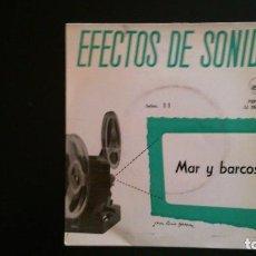 Discos de vinilo: EFECTOS DE SONIDO - MAR Y BARCOS. Lote 64158903