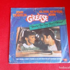 Discos de vinilo: JOHN TRAVOLTA Y OLIVIA NEWTON JOHN - YOU´RE THE ONE THAT I WANT - SG - 1978. Lote 64161387