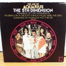 Discos de vinilo: LP THE AGE OF AQUARIUS THE 5TH DIMENSION, SOUL CITY SCS-92005 USA DESPLEGABLE,LET THE SUNSHINE IN,5ª. Lote 64173475