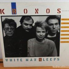 Discos de vinilo: LP KRONOS QUARTET, WHITE MAN SLEEPS, ELEKTRA NONESUCH 79163-1 USA, MUY RARO. Lote 64177775