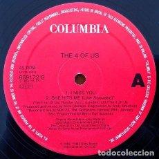 Discos de vinilo: THE 4 OF US - I MISS YOU . MAXI SINGLE . 1992 COLUMBIA UK - 659172 6 . Lote 36804895