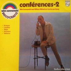 Discos de vinilo: WIM SONNEVELD - CONFERENCES 2 . LP . 1974 PHILLIPS HOLANDA . 6410 105. Lote 38209526