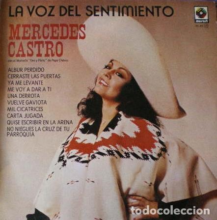 MERCEDES CASTRO - LA VOZ DEL SENTIMIENTO . LP . 1980 ZAFIRO - ML-83 (Música - Discos - LP Vinilo - Grupos y Solistas de latinoamérica)