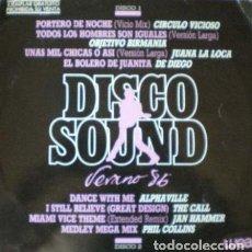Discos de vinilo: DISCO SOUND VERANO 86 . SOLO DISCO 1 . LP . 1986 WEA . CIRCULO VICIOSO . OBJETIVO BIRMANIA . . Lote 38598396
