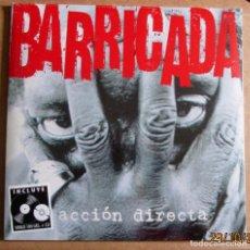Discos de vinilo: BARRICADA - ACCION DIRECTA - LP + CD - DRO / WARNER MUSIC 2014 SPAIN - NUEVO PRECINTADO. Lote 189610990
