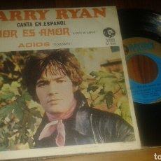 Discos de vinilo: BARRY RYAN CANTA EN ESPAÑOL : AMOR ES AMOR/ADIÓS.(SG.MGM.1969)(EDICIÓN ESPAÑOLA). Lote 64291505