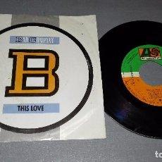 Discos de vinilo: 1018- BAD COMPANY-THIS LOVE - DISC VIN 7-PORTADA VG / DISCO VG + REF (PROMO). Lote 64297523