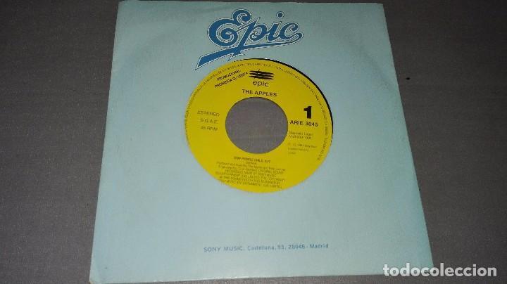 1018- THE APPLES-STAY PEOPLE - DISC VIN 7-PORTADA VG + / DISCO VG + (PROMO) (Música - Discos - Singles Vinilo - Otros estilos)
