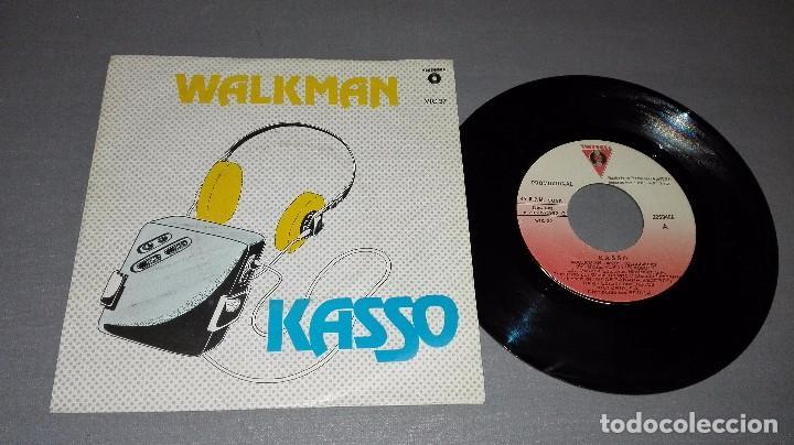 1018- WALKMAN- KASSO - DISC VIN 7-PORTADA VG + / DISCO VG ++ (PROMO) (Música - Discos - Singles Vinilo - Otros estilos)