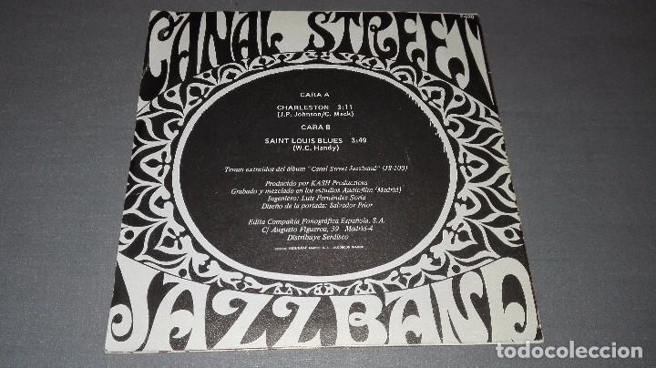 Discos de vinilo: 1018- CANAL STREET- JAZZ BAND - DISC VIN 7-PORTADA VG ++ / DISCO VG ++ - Foto 3 - 64311007