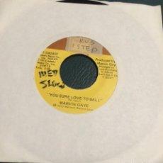Discos de vinilo: 'YOU SURE LOVE TO BALL / JUST TO KEEP ...', DE MARVIN GAYE. SINGLE DE MÁQUINA JUKE BOX USA. 1973.. Lote 64315411