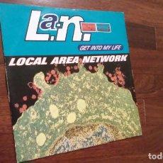 Discos de vinilo: LOCAL AREA NETWORK-GET INTO MY LIFE.MAXI ITALIA. Lote 64322995