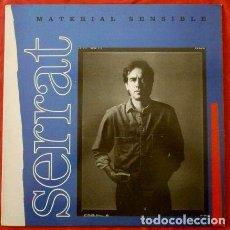 Discos de vinilo: SERRAT (LP. 1989) JOAN MANUEL SERRAT - MATERIAL SENSIBLE - ARIOLA BMG. Lote 64323079