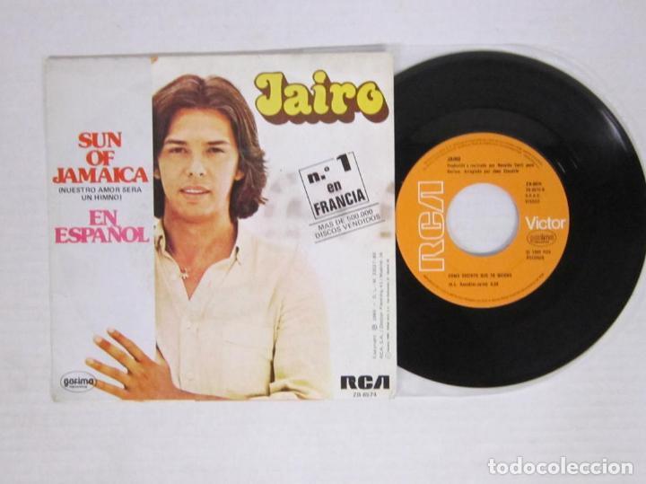 Discos de vinilo: JAIRO - SUN OF JAMAICA / NUESTRO AMOR SERA UN HIMNO - RCA 1980 SPAIN - Foto 2 - 64337979