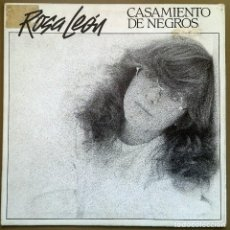 Discos de vinilo: ROSA LEÓN: CASAMIENTO DE NEGROS, SINGLE PROMO FONOMUSIC 03.2130/1, SPAIN, 1984. NM/VG+. Lote 64340435