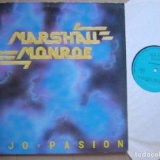 Discos de vinilo: MARSHALL MONROE LUJO Y PASION LP LADY ALICIA 88*RARO PRIVADO HEAVY METAL NACIONAL*HARD ROCK*. Lote 64341543