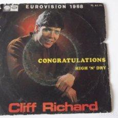 Discos de vinilo: CLIFF RICHARD - CONGRATULATIONS. Lote 64342555