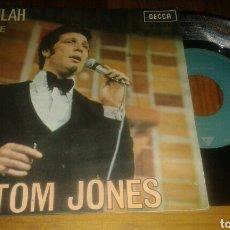 Discos de vinilo: TOM JONES:DELILAH/SMILE (SG.1967.DECA). Lote 64346914