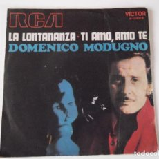 Discos de vinilo: DOMENICO MODUGNO - LA LONTANANZA. Lote 64348867