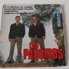 Discos de vinilo: LOS PAQUIROS - A TÍ SEVILLA TE LLAMAN. Lote 64349947