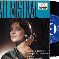 Discos de vinilo: NATI MISTRAL: PIEDRA Y CAMINO / PAISAJES DE CATAMARCA / LIMEÑA / LA LINDA TAPADA. Lote 64360643