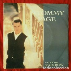 Discos de vinilo: TOMMY PAGE (SINGLE 1990) UNDER THE RAINBOW. Lote 64373515