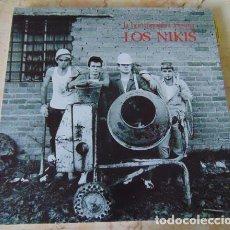 Discos de vinilo: LOS NIKIS – LA HORMIGONERA ASESINA - LP VINILO BLANCO. Lote 64395379