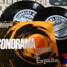 Discos de vinilo: SONORAMA REGIONAL DE ESPAÑA DOBLE SINGLE.ANDALUCIA. Lote 64400222