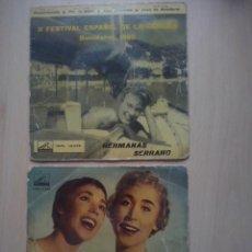 Discos de vinilo: HERMANAS SERRANO- PATRICIA +3/ COMUNICANDO +3- EP'S 1958/ 1960. Lote 64402431