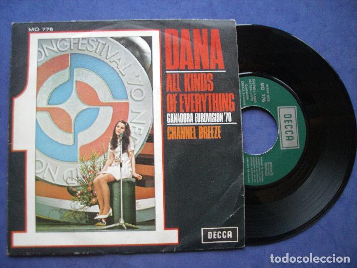 DANA ALL KINDS OF EVERYTHING SINGLE SPAIN 1970 PDELUXE (Música - Discos - Singles Vinilo - Festival de Eurovisión)