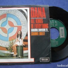 Discos de vinilo: DANA ALL KINDS OF EVERYTHING SINGLE SPAIN 1970 PDELUXE. Lote 64420583