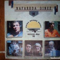 Discos de vinilo: NAFARROA OINEZ - OSKORRI ETA LAGUNAK ( MIGUEL INDURAIN , I. PERURENA, CUCO ZIGANDA, DROGAS& AURORA). Lote 64424463