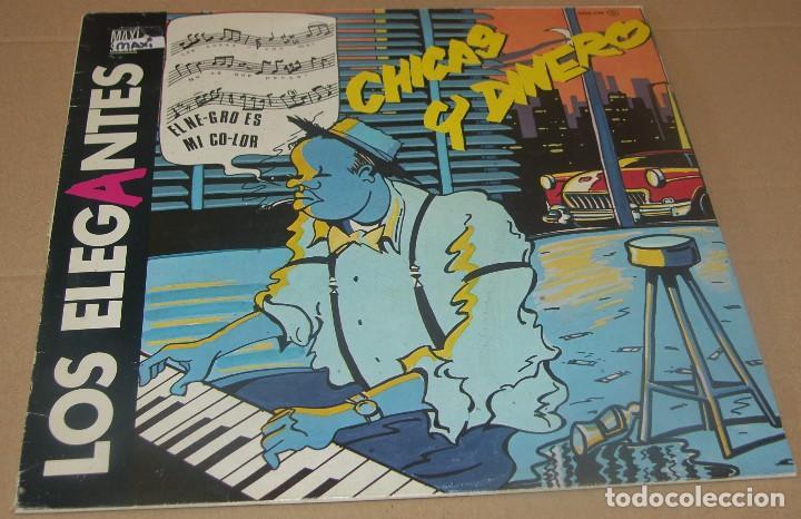 LOS ELEGANTES - CHICAS Y DINERO - MAXI ZAFIRO - OOS-770 - ESPAÑA 1985 (Música - Discos de Vinilo - Maxi Singles - Grupos Españoles de los 70 y 80)