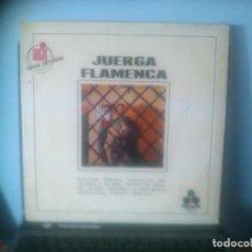 Discos de vinilo: JUERGA FLAMENCA - MARUJA BIENVENIDA, GRUPO GITANO DEL SACROMONTE, ALFONSO Y MANUEL LABRADOR. Lote 64450635