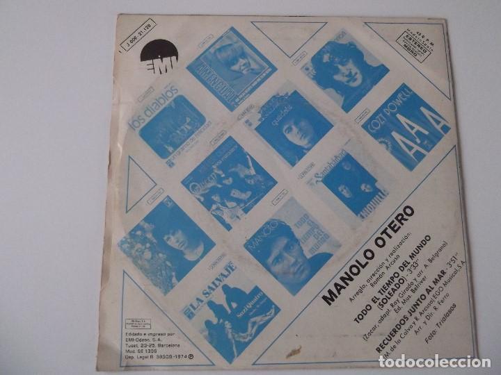 Discos de vinilo: MANOLO OTERO - Todo el tiempo del mundo - Foto 2 - 64454459