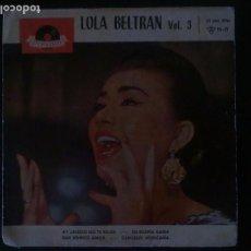 Discos de vinilo: LOLA BELTRAN-VOL 3. Lote 64465003