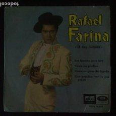 Discos de vinilo: RAFAEL FARINA - EL REY GITANO. Lote 64465099