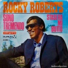 Discos de vinilo: ROCKY ROBERTS. SONO TREMENDO. SINGLE. Lote 64476179