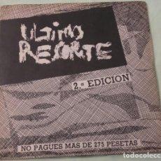 Discos de vinilo: ULTIMO RESORTE EP. Lote 64481115