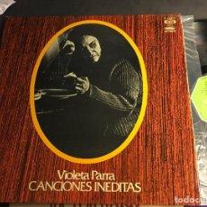 Discos de vinil: VIOLETA PARRA (CANCIONES INEDITAS) LP ESPAÑA 1975 GAT. (VIN-I). Lote 64489219