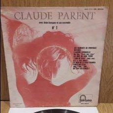Discos de vinilo: 10 PULGADAS. CLAUDE PARENT AVEC ALAIN CORAGUER. LP / FONTANA - 1957 / BC. ***/**. Lote 64494367
