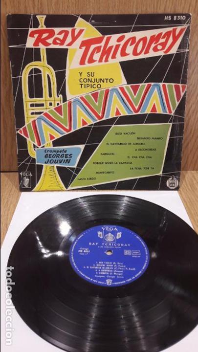 10 PULGADAS !! RAY TCHICORAY CON GEORGES JOUVIN. LP / VEGA-HISPAVOX - AÑOS 50 / MARCAS DE USO.***/** (Música - Discos - LP Vinilo - Orquestas)